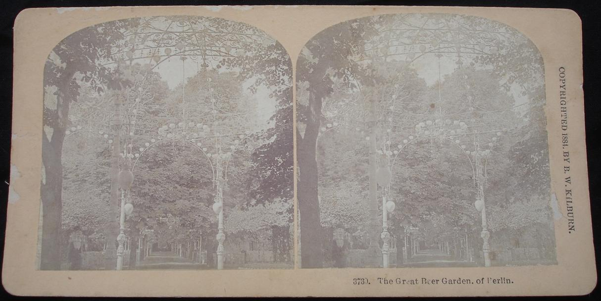 stereoview - The Great Beer Garden of Berlin - click for larger image in new window