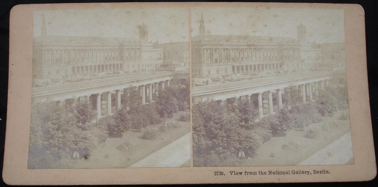 stereoview -View from the National Gallery, Berlin - click for larger image in new window