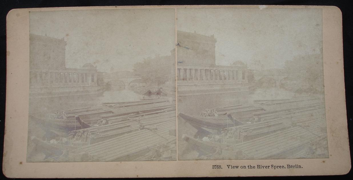 stereoview -View on the River Spree, Berlin - click for larger image in new window