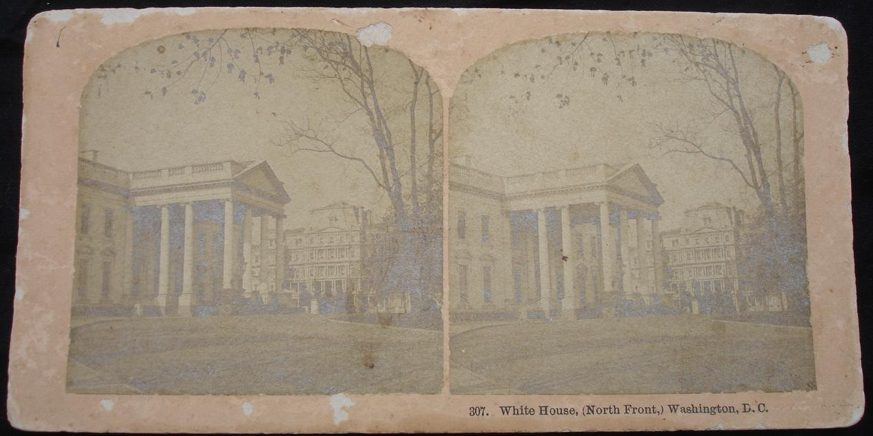 Stereoview - White House, (North Front) Washington D.C. - click for larger image in new window