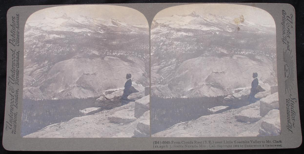 stereoview - Yosemite valley - click for larger image in new window